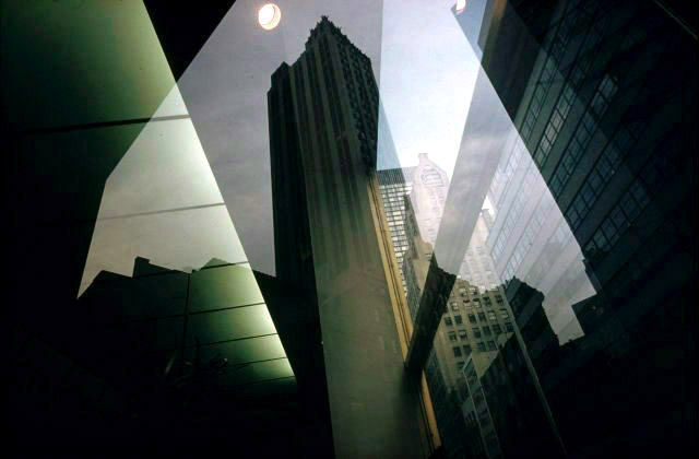 revolving Door NYC by Ernst Haas