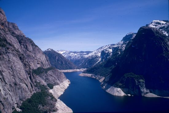 Hetch Hetchy Reservoir with Snow by Galen Rowell