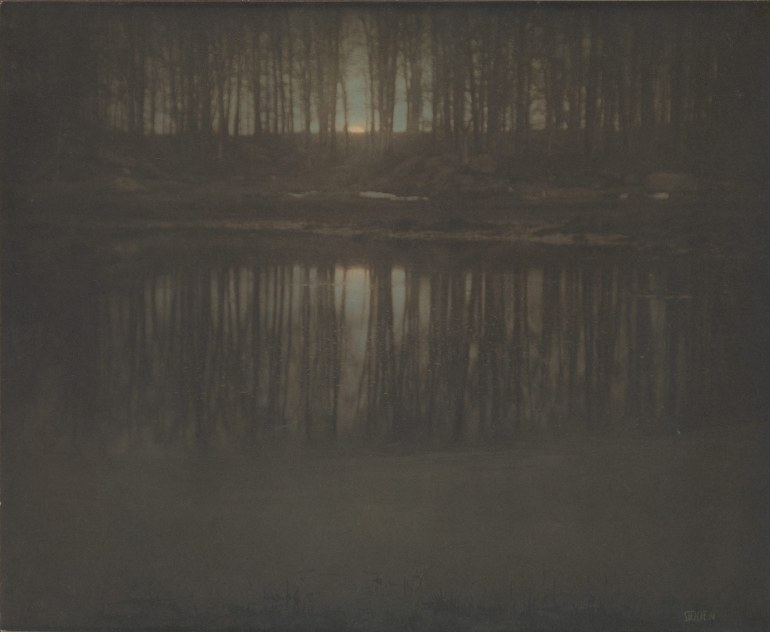 Working Title/Artist: Edward Steichen: The Pond—MoonriseDepartment: PhotographsCulture/Period/Location: HB/TOA Date Code: Working Date:  photography by mma, Digital File DP232890.tif retouched by film and media (jnc) 11_18_10