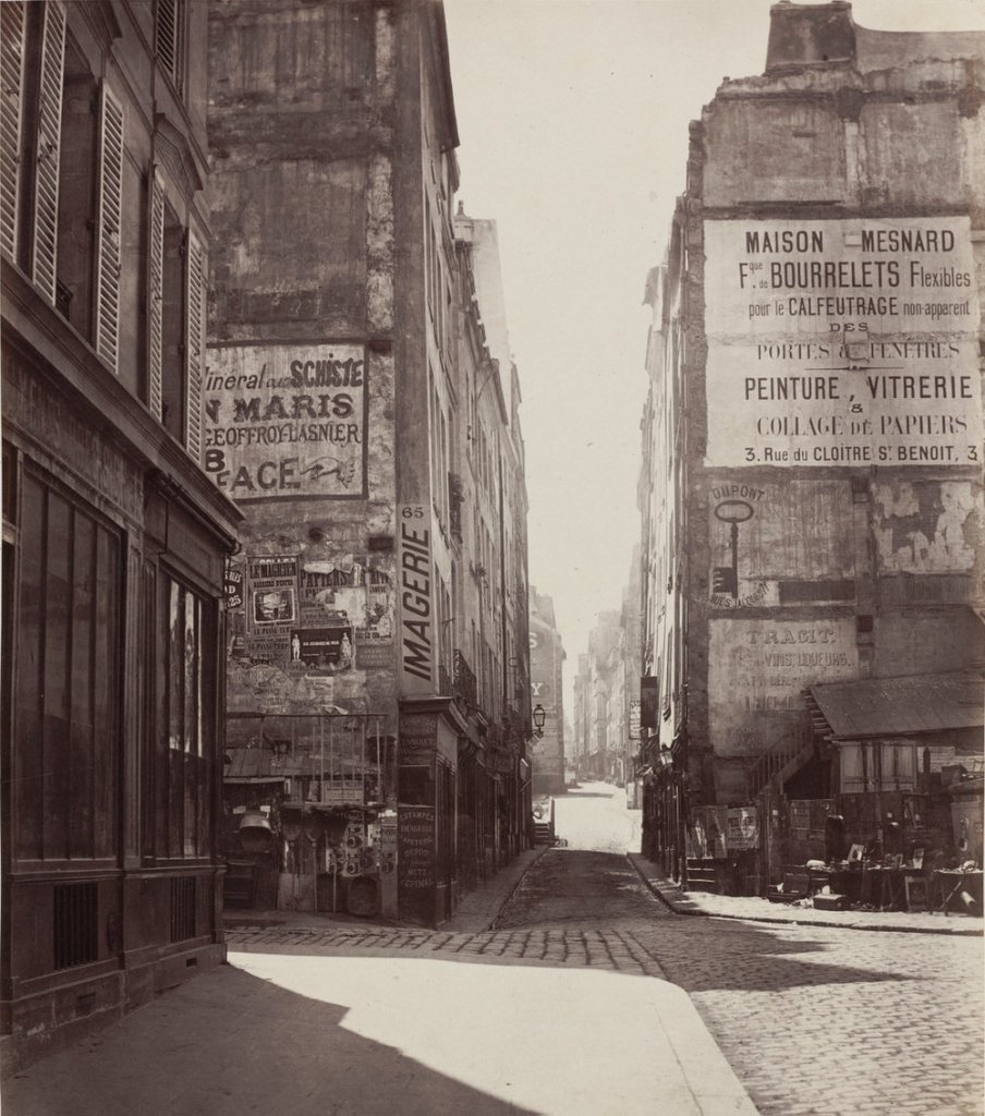 Charles Marville (French, 1813 - 1879 ), Rue Saint-Jacques, 1864-before February 1867, albumen print from collodion negative,