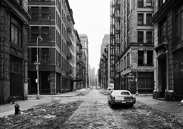 Thomas Struth (German, born Geldern, 1954) Crosby Street, Soho, New York, 1978 Gelatin silver print; 29.5 x 40.6 cm (11 5/8 x 16 in.) The Metropolitan Museum of Art, New York, Gift of Henry S. Hacker, 1982 (1982.1053.1) http://www.metmuseum.org/Collections/search-the-collections/284775