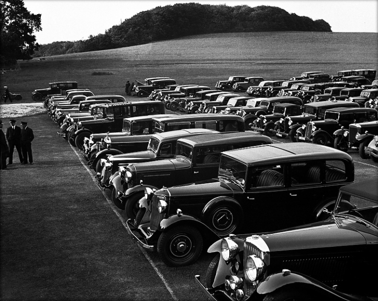 Car Park at Glyndebourne, c1938