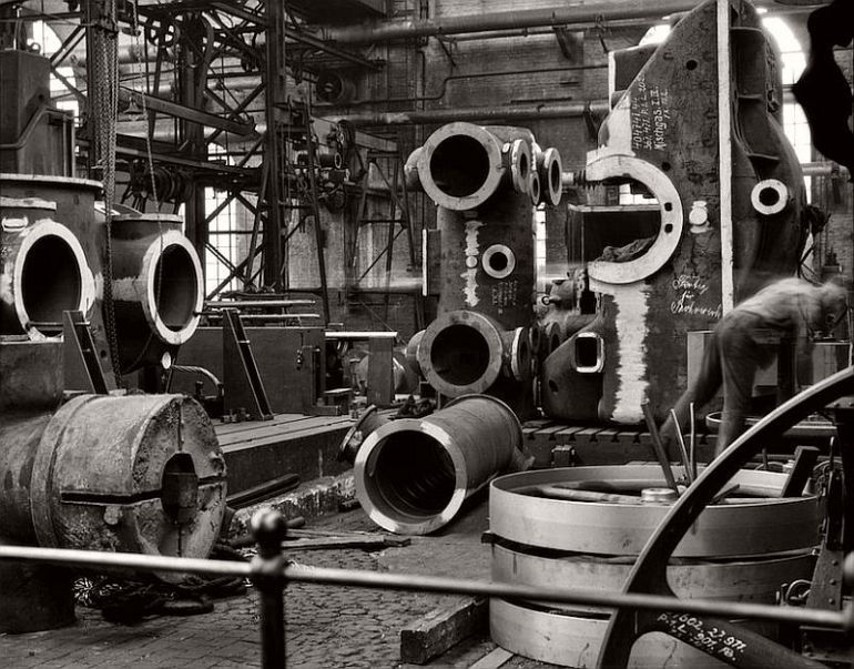 Factory floor, Borsig Locomotive Works, Berlin, 1928