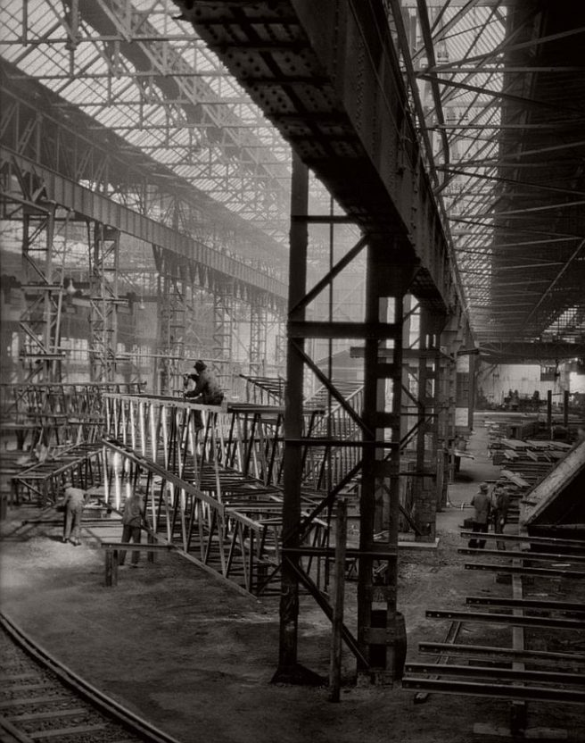 On the factory floor, C.H. Jucho bridge builders, Dortmund, 1928