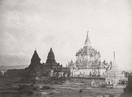Linnaeus Tripe (British, Devonport (Plymouth Dock) 1822–1902 Devonport) Pugahm Myo. Gauda-palen Pagoda., 1855 Lightly albumenized Salted paper print; image: 25.3 × 34.2 cm (9 15/16 × 13 7/16 in.) page size: 45.6 × 58 cm (17 15/16 × 22 13/16 in.) The Metropolitan Museum of Art, New York, (LT.BL.1) http://www.metmuseum.org/Collections/search-the-collections/643437