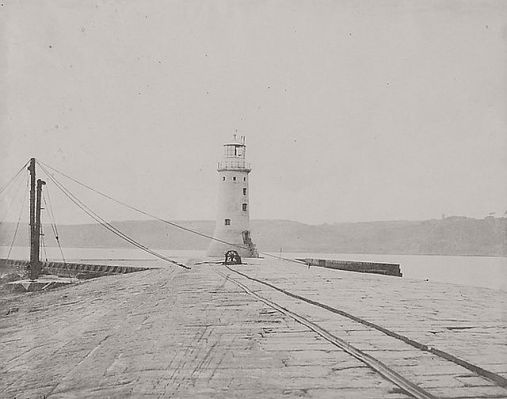 Linnaeus Tripe (British, Devonport (Plymouth Dock) 1822–1902 Devonport) Lighthouse Breakwater., 1852/54 or 1861/62 Albumen print; image: 26.8 × 34.2 cm (10 9/16 × 13 7/16 in.) sheet: 28.2 × 35 cm (11 1/8 × 13 3/4 in.) The Metropolitan Museum of Art, New York, Janet Dewan (LT.JD.1) http://www.metmuseum.org/Collections/search-the-collections/643467