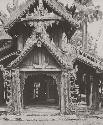 Linnaeus Tripe (British, Devonport (Plymouth Dock) 1822–1902 Devonport) Pugahm Myo. Carved Doorway [in courtyard of Shwe Zeegong Pagoda]., August 20–24, 1855, or October 23, 1855 Salted paper print; image: 32.5 × 26.9 cm (12 13/16 × 10 9/16 in.) The Metropolitan Museum of Art, New York, Diana and Mallory Walker Fund (LT.NGA.7) http://www.metmuseum.org/Collections/search-the-collections/643458